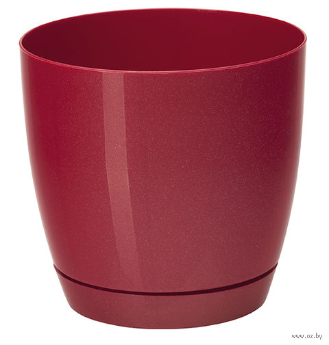 """Цветочный горшок """"Тоскана"""" (19 см; красный металлик) — фото, картинка"""