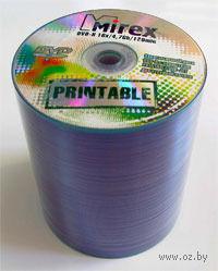 Диск DVD-R 4.7Gb 16x Mirex Printable bulk 100