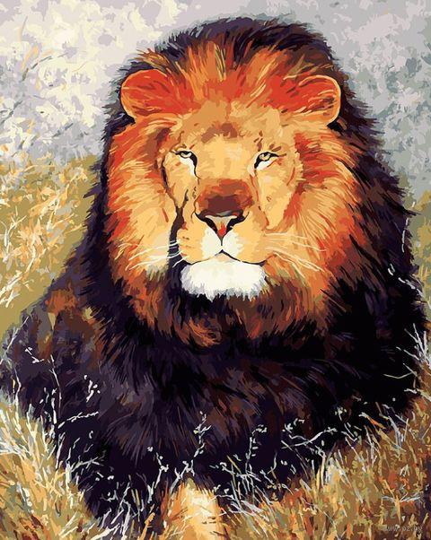 """Картина по номерам """"Царь зверей"""" (400х500 мм) — фото, картинка"""