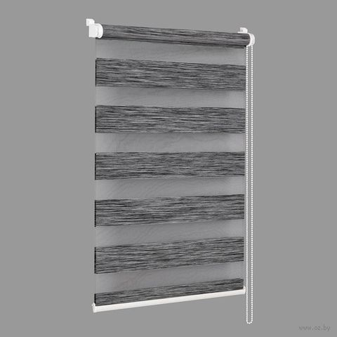 "Штора рулонная ""Сантайм. Натур"" (57х160 см; графит) — фото, картинка"