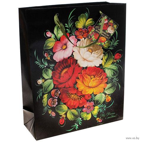 """Пакет бумажный подарочный """"С любовью"""" (32х45х10 см; арт. 10320943)"""