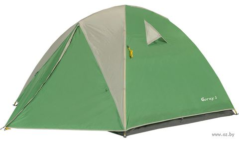 """Палатка """"Гори 3 v.2"""" (зелёная/светло-серая) — фото, картинка"""