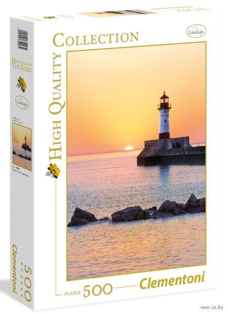 """Пазл """"Закат на побережье с маяком"""" (500 элементов)"""