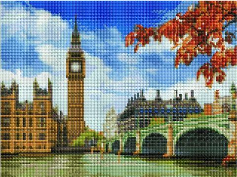 "Алмазная вышивка-мозаика ""Вид на Биг Бен"" (300х400 мм) — фото, картинка"
