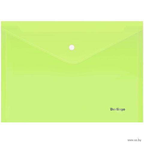 Папка-конверт (А4; салатовая) — фото, картинка