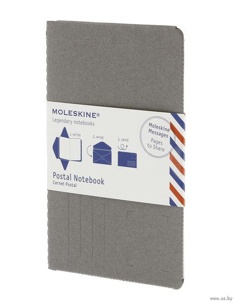 """Почтовый набор Молескин """"Postal Notebook"""" (карманный; мягкая серая обложка)"""