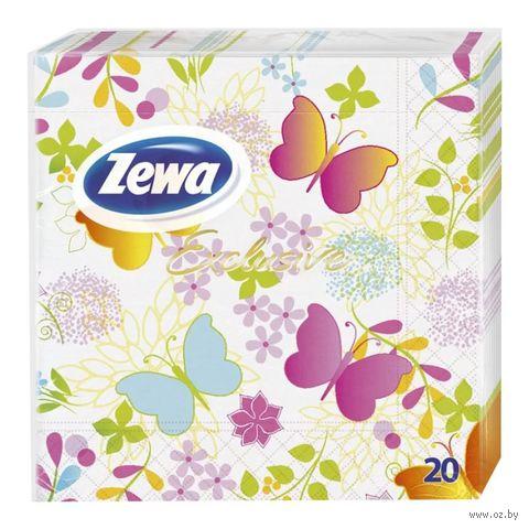"Салфетки бумажные ZEWA Exclusive ""Бабочки"" (20 шт)"