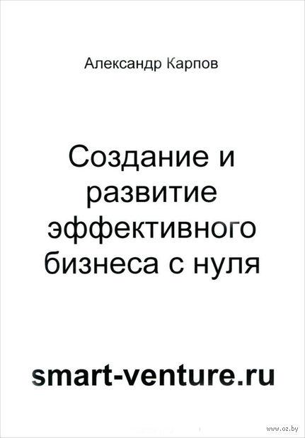 Создание и развитие эффективного бизнеса с нуля. Александр Карпов