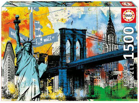 """Пазл """"Символы Нью-Йорка"""" (1500 элементов) — фото, картинка"""