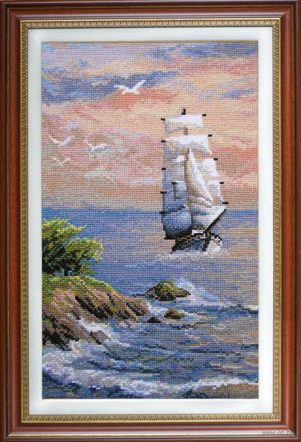 """Вышивка крестом """"Попутный ветер"""" (180х310 мм) — фото, картинка"""