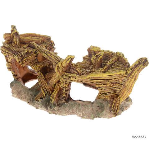 """Декорация для аквариума """"Лодка. Gold"""" (18х8,5х7 см) — фото, картинка"""