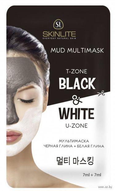 """Мультимаска для лица """"Черная глина и белая глина"""" (14 мл) — фото, картинка"""