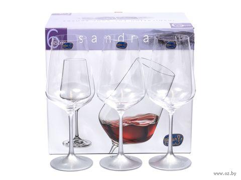 "Бокал для вина стеклянный ""Sandra"" (6 шт.; 450 мл) — фото, картинка"
