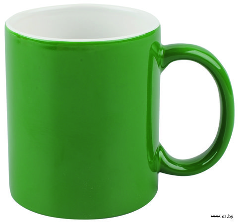 Кружка (320 мл, цвет: зеленый, белый)