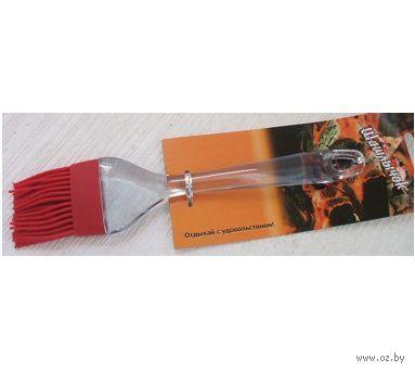 Кисточка для теста силиконовая с пластмассовой ручкой (22 см, арт. KL40A10-13)
