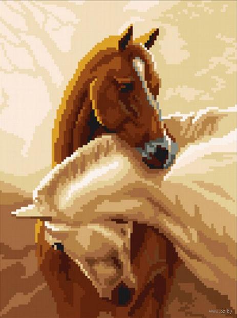 """Вышивка крестом """"Пара лошадей"""""""