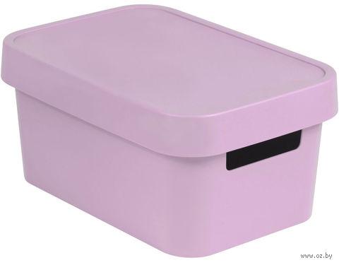 Ящик для хранения с крышкой (4,5 л; розовый)