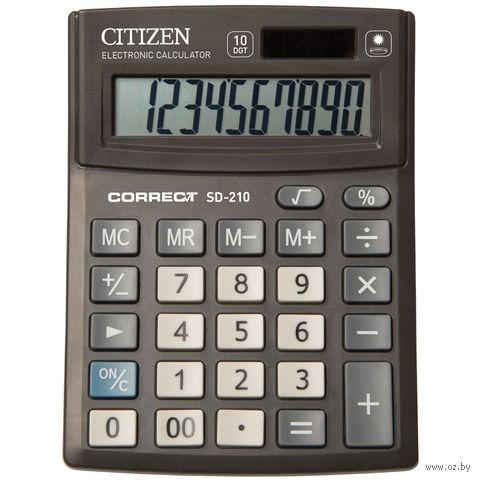 Калькулятор настольный SD-210 (10 разрядов) — фото, картинка