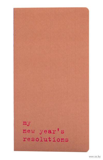 """Записная книжка Молескин """"Chapter. My New Years Resolutions"""" в точку (средняя; мягкая розовая обложка)"""