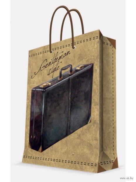 """Пакет бумажный подарочный """"Дипломат"""" (26х32,4х12,7 см; арт. 39664) — фото, картинка"""