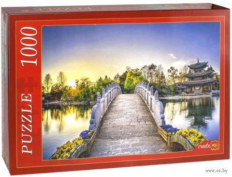 "Пазл ""Мост и пагода"" (1000 элементов) — фото, картинка"