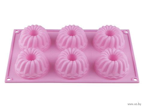 Форма силиконовая для выпекания кексов (285x175x40 мм; лиловая) — фото, картинка