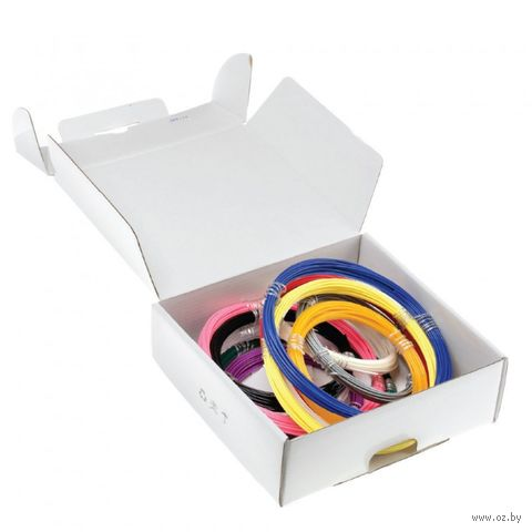 Набор ABS пластика (6 цветов; 12 м) — фото, картинка