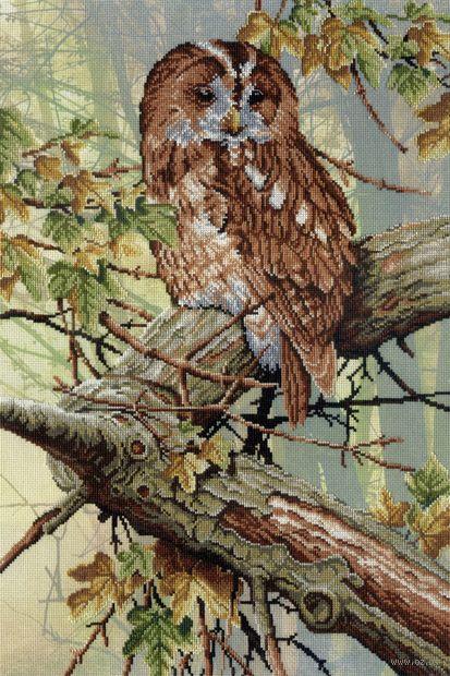 "Вышивка крестом ""В кружевах леса"" (400x270 мм) — фото, картинка"