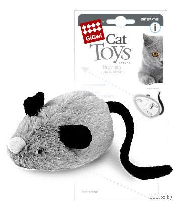 """Игрушка для кошек """"Мышка"""" со звуковым чипом (19 см) — фото, картинка"""