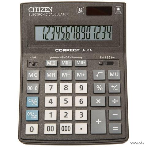 Калькулятор настольный D-314 (14 разрядов)