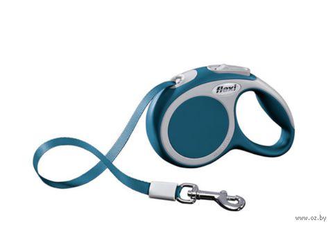 """Поводок-рулетка для собак """"Vario"""" (синий, размер XS, до 12 кг/3 м, арт. 12052)"""