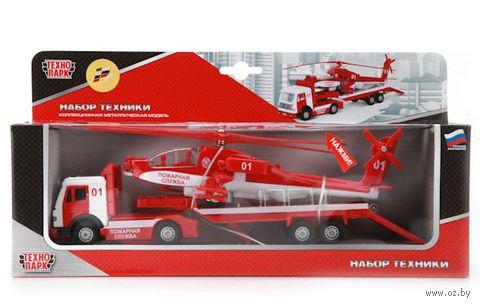 """Игровой набор """"Пожарная служба"""" (трейлер и вертолет)"""