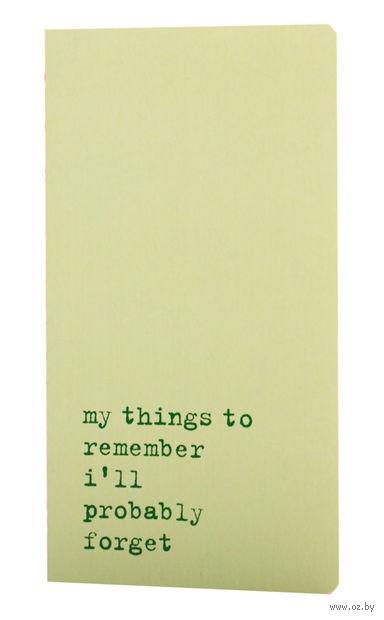 """Записная книжка в точку """"Chapter. My Things to Remember"""" (95х180 мм; светло-зеленая)"""