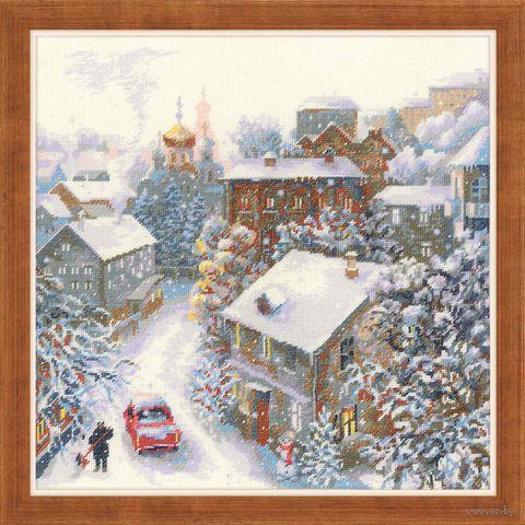"Вышивка крестом ""Снежная зима"" (300x300 мм) — фото, картинка"