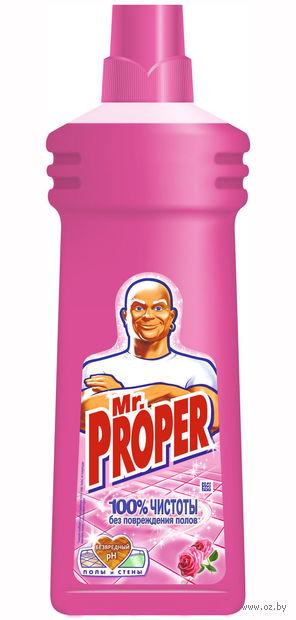"Жидкость для уборки Mr.Proper ""Роза"" (750 мл)"