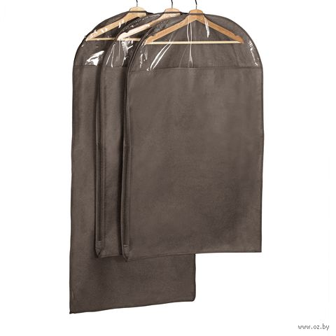 Чехол для одежды (3 шт.; коричневый) — фото, картинка