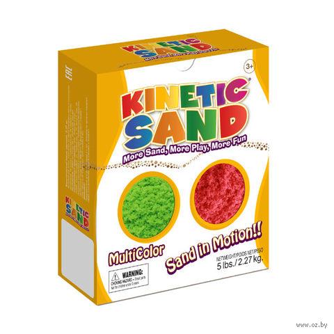 """Кинетический песок """"Kinetic Sand. Зеленый, красный"""" (2,27 кг)"""