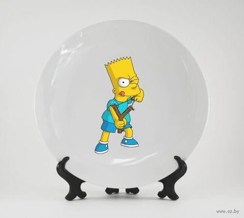 """Тарелка """"Барт Симпсон"""" (245)"""