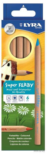 "Цветные карандаши ""SUPERFERBY NATURE"" (6 цветов)"