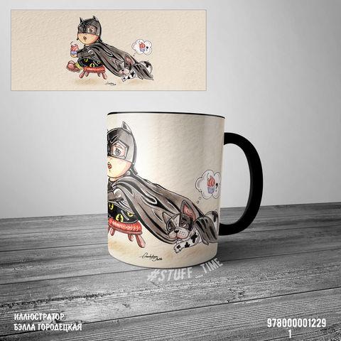 """Кружка """"Бэтмен"""" (черная; арт. 1229) — фото, картинка"""