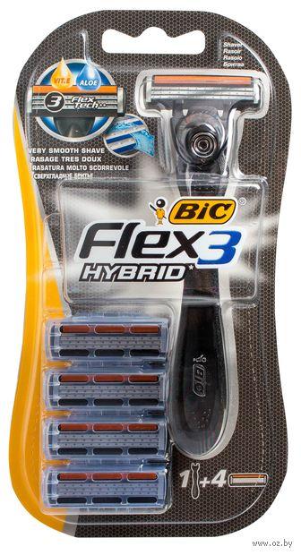 """Станок для бритья """"Flex 3 easy"""" (+4 кассеты) — фото, картинка"""