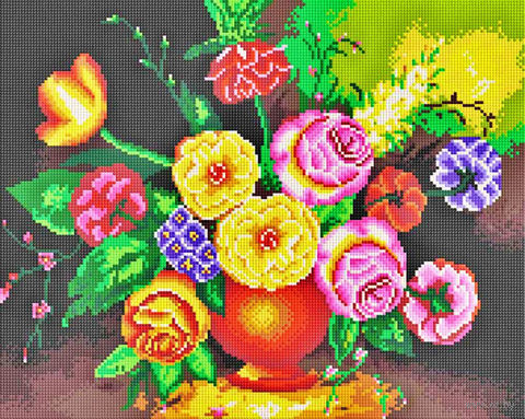 "Алмазная вышивка-мозаика ""Мерцающий букет"" (400х500 мм) — фото, картинка"