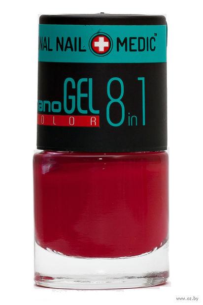 """Лак для ногтей """"Nano Gel Color"""" (тон: 11, красный) — фото, картинка"""