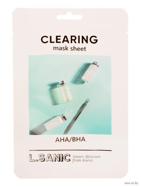 """Тканевая маска для лица """"С AHA/BHA кислотами"""" (25 мл) — фото, картинка"""