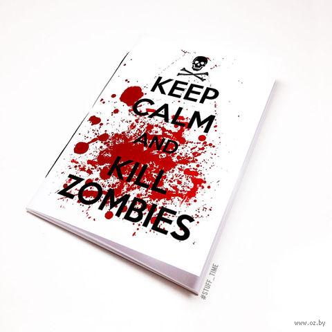 """Блокнот белый """"Kill Zombies"""" А5 (134)"""