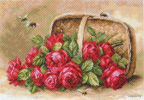 """Канва с нанесенным рисунком """"Знойные розы"""""""