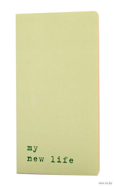 "Записная книжка в точку ""Chapter. My New Life"" (95х180 мм; светло-зеленая) — фото, картинка"