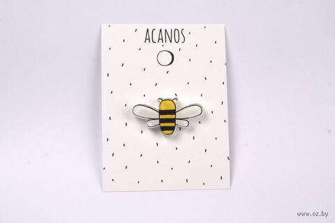 "Брошка ""Пчелка"" (оргстекло; арт. 20025) — фото, картинка"