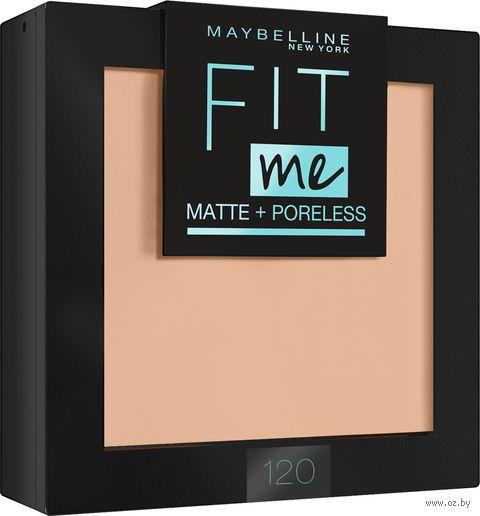 "Компактная пудра для лица ""Fit Me!"" (тон: 120, классический бежевый) — фото, картинка"
