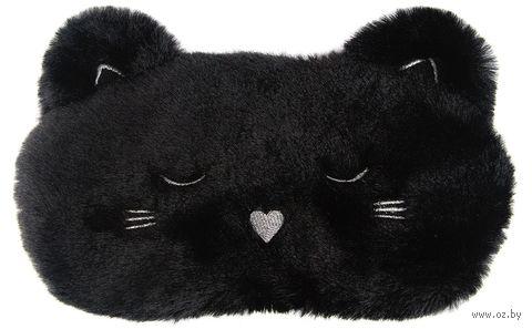 """Маска для сна """"Чёрный котик"""" — фото, картинка"""